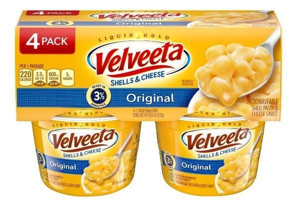 Mac N Cheese Cup, Kraft® Velveeta® Shells 'N' Cheese (4 Cups, 2.39 oz Cups)