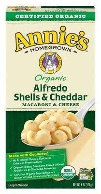 Mac N Cheese Pasta, Annie's® Organic Alfredo Shells & Cheddar Macaroni & Cheese (6 oz Box)