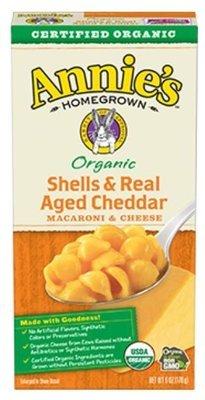 Mac N Cheese Pasta, Annie's® Organic Shells & Real Aged Cheddar Macaroni & Cheese (6 ox Box)