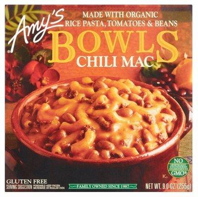 Mac N Cheese Dinner, Amy's® Organic Chili Mac Bowl (9 oz Box)