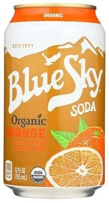 Soda, Blue Sky® Organic Orange Soda (Single 12 oz Can)
