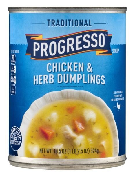 """Canned Soup, Progresso® """"Traditional"""" Chicken & Herb Dumplings Soup (18.5 oz Can)"""