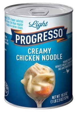 Canned Soup, Progresso® Light® Creamy  Chicken Noodle Soup (18.5 oz Can)