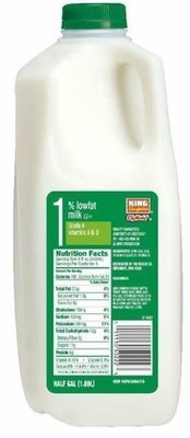 Dairy Milk, King Soopers® 1% Low Fat Milk (½ Gallon Jug)