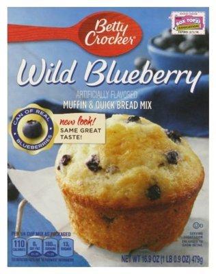 Muffin Mix, Betty Crocker® Wild Blueberry Muffin Mix (16.9 oz Box)