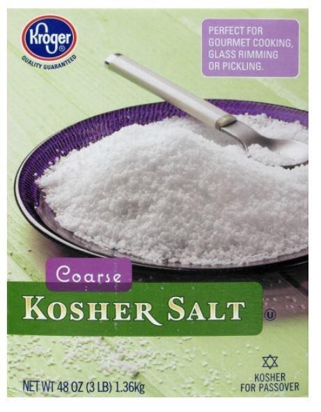 Seasonings, Kroger® Coarse Kosher Salt (48 oz Box)