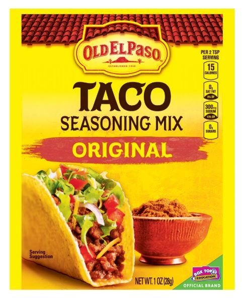 Taco Seasoning, Old El Paso® Original Taco Seasoning Mix (1 oz Bag)
