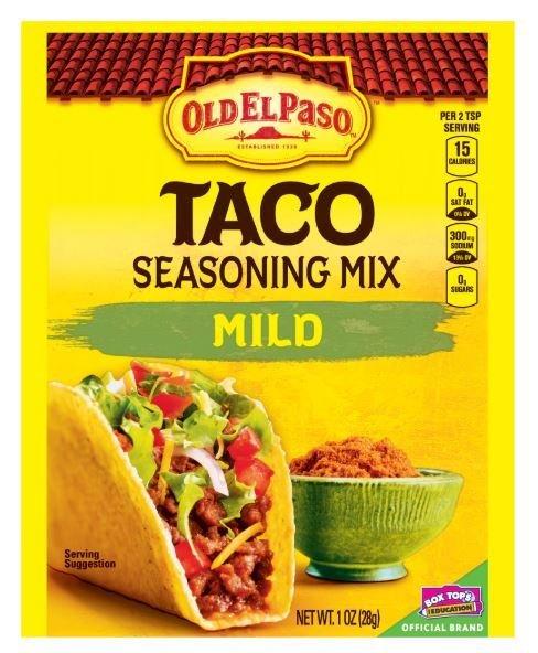 Taco Seasoning, Old El Paso® Mild Taco Seasoning Mix (1 oz Bag)