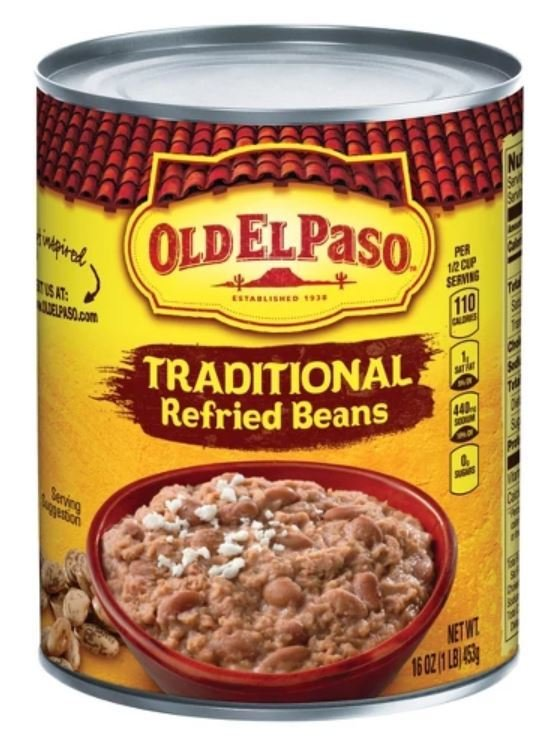 """Canned Refried Beans, Old El Paso® """"Traditional"""" Refried Pinto Beans (16 oz Can)"""