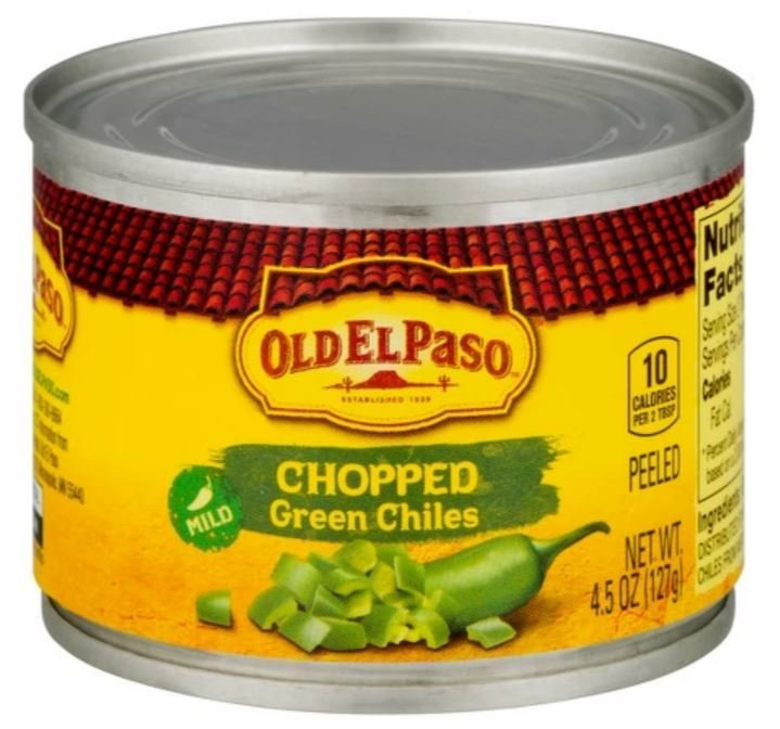 Green Chiles, Old El Paso® Chopped Green Chiles (4.5 oz Can)