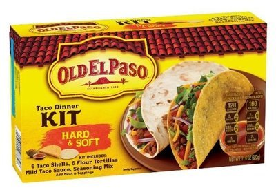 Taco Dinner Kit, Old El Paso® Hard & Soft Taco Dinner Kit (11.4 oz Box)