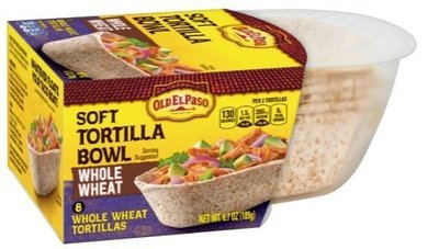 Taco Bowls, Old El Paso® Whole Wheat Soft Taco Bowl Tortillas (8 Bowls, 6.7 oz Box)