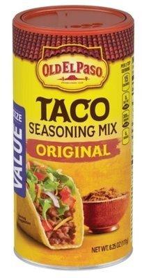 Taco Seasoning, Old El Paso® Original Taco Seasoning Shaker (6.25 oz Shaker)