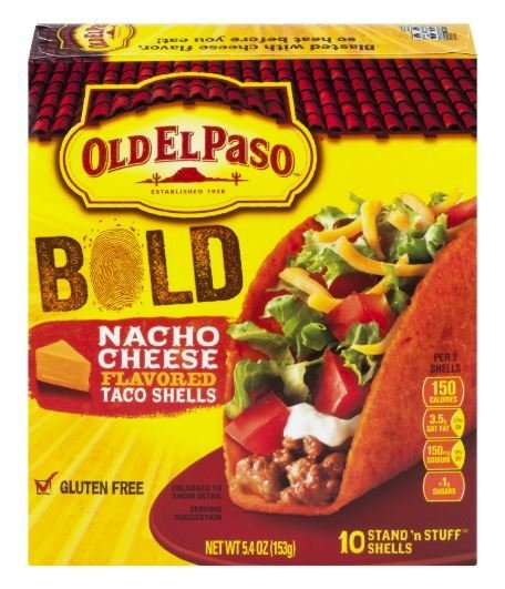 Taco Shells, Old El Paso® Stand 'n Stuff™ Nacho Cheese Taco Shells (5.4 oz Box)