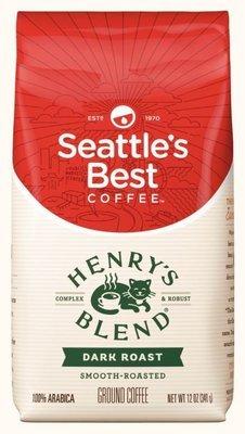 Ground Coffee, Seattle's Best® Henry's Blend™ Dark Roast Ground Coffee (12 oz Bag)