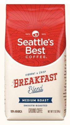 Ground Coffee, Seattle's Best® Breakfast Blend™ Ground Coffee (12 oz Bag)
