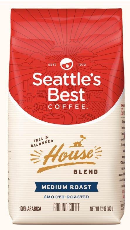 Ground Coffee, Seattle's Best® House Blend™ Ground Coffee (12 oz Bag)