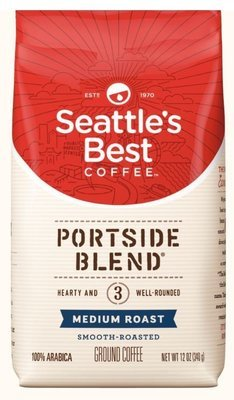 Ground Coffee, Seattle's Best® Portside Blend 3™ Medium Roast Ground Coffee (12 oz Bag)