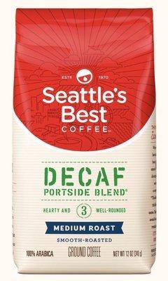 Ground Coffee, Seattle's Best® Portside Blend 3™ Decaf Medium Roast Ground Coffee (12 oz Bag)
