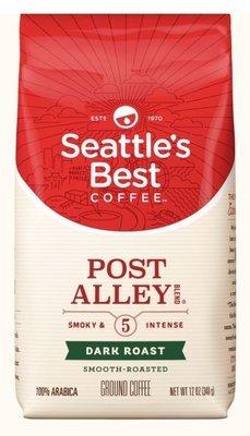 Ground Coffee, Seattle's Best® Port Alley 5™ Dark Intense Ground Coffee (12 oz Bag)