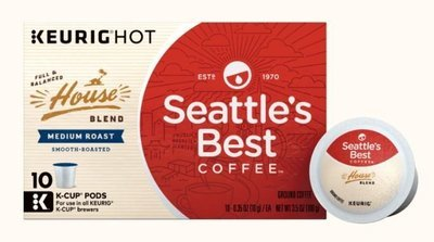 K Cup Coffee, Seattle's Best® House Blend™ K Cup Coffee (Box of 10 Single K Cups)