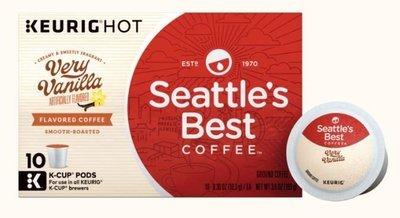 K Cup Coffee, Seattle's Best® Very Vanilla™ K Cup Coffee (Box of 10 Single K Cups)