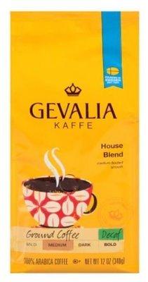 Ground Coffee, Gevalia® House Blend, Decaffeinated Ground Coffee (12 oz Bag)