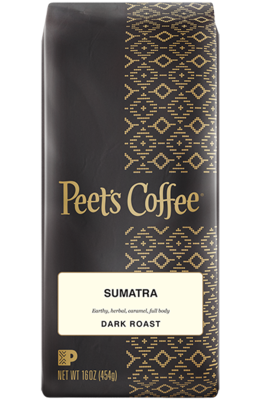 Ground Coffee, Peet's Coffee® Sumatra Ground Coffee (12 oz Bag)