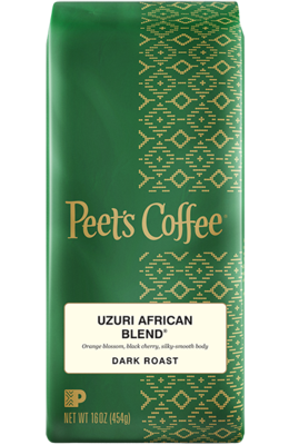 Ground Coffee, Peet's Coffee® Uzuri African Blend® Ground Coffee (12 oz Bag)