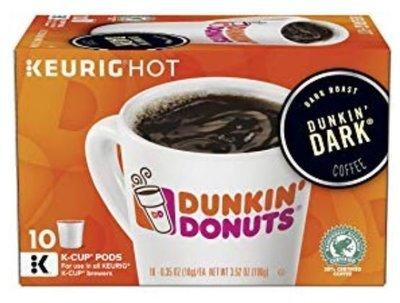 K Cup Coffee, Dunkin' Donuts® Dunkin' Dark ™ K Cup Coffee (Box of 10 Single K Cups)
