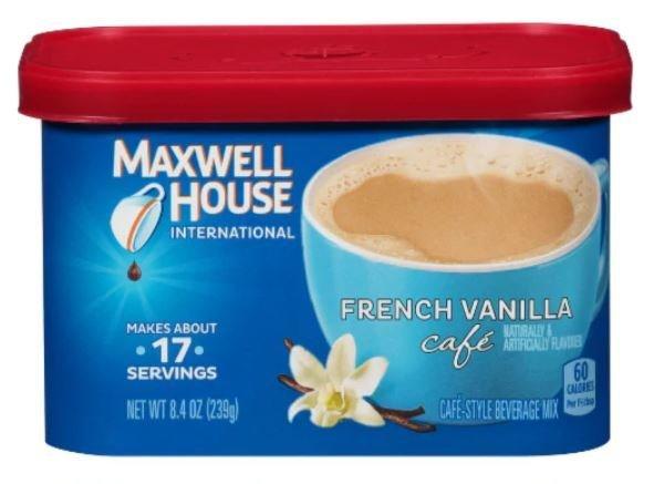 Coffee, Maxwell House® International Cafe, French Vanilla (8.4 oz Tub)