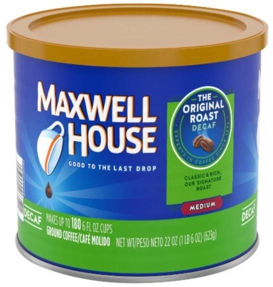 Ground Coffee, Maxwell House® Original Decaffeinated Ground Coffee (22 oz Can)