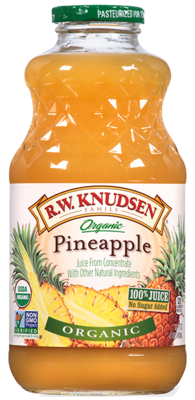 Pineapple Juice, R.W. Knudsen® Organic Pineapple Juice (32 oz Bottle)
