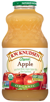Apple Juice, R.W. Knudsen® Organic Apple Juice (32 oz Bottle)