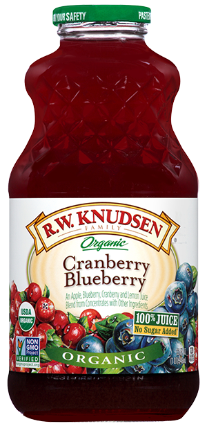 Juice, R.W. Knudsen® Organic Cranberry Blueberry Juice (32 oz Bottle)