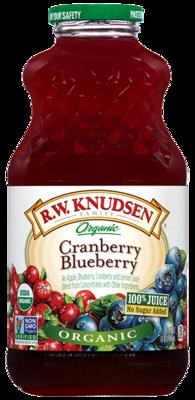 Juice, R.W. Knudsen® Organic Cranberry Blueberry Juice (32 oz Bottle)