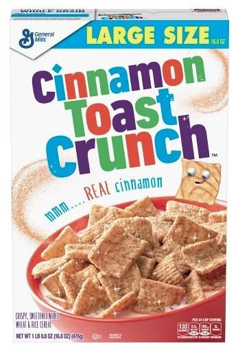 Cereal, General Mills® Cinnamon Toast Crunch™ Cereal (Large Size-16.8 oz Box)