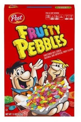 Cereal, Post® Pebbles™ Fruity Cereal (15 oz Box)