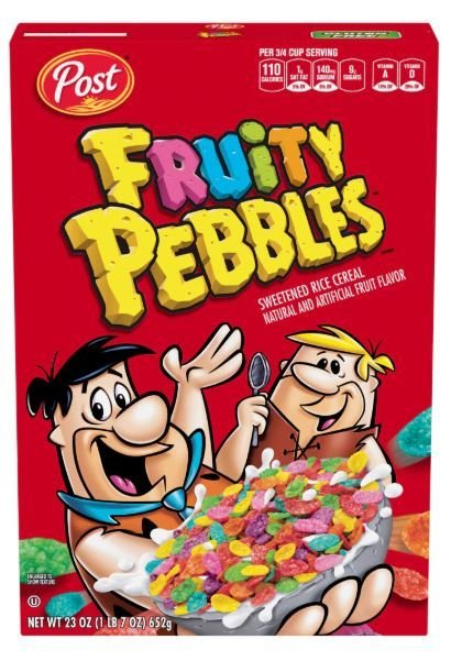Cereal, Post® Pebbles™ Fruity Cereal (23 oz Box)