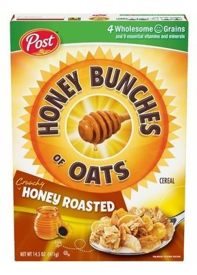 Cereal, Post® Honey Bunches of Oats™ Honey Roasted Cereal (14.5 oz Box)