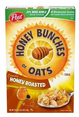 Cereal, Post® Honey Bunches of Oats™ Honey Roasted Cereal (18 oz Box)