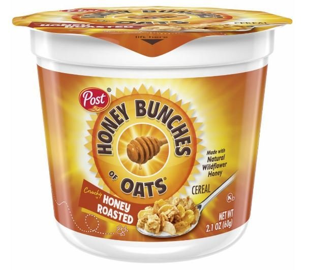 Cereal, Post® Honey Bunches of Oats™ Cereal (2.1 oz Cup)
