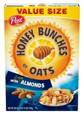 Cereal, Post® Honey Bunches of Oats™ with Almonds Cereal (Value Size-28 oz Box)
