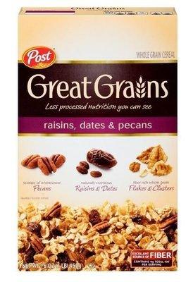 Cereal, Post® Great Grains™ Raisins Dates & Pecans Cereal (16 oz Box)