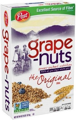 Cereal, Post® Grape-Nuts™ Cereal (Jumbo Size-64 oz Box)