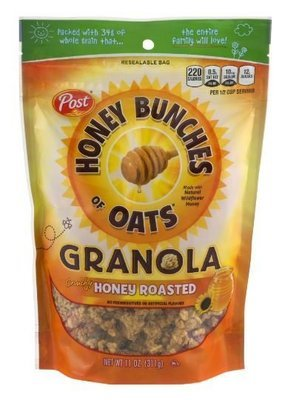 Cereal, Post® Honey Bunches of Oats™ Honey Roasted Granola (11 oz Bag)