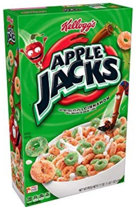 Cereal, Kellogg's® Apple Jacks™ Cereal (17 oz Box)