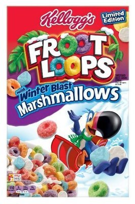 Cereal, Kellogg's® Froot Loops™ with Marshmallows (12.6 oz Box)