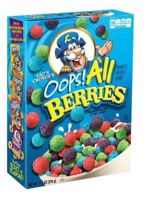 Cereal, Quaker Oats® Cap'n Crunch® Oops! All Berries Cereal (11.5 oz Box)