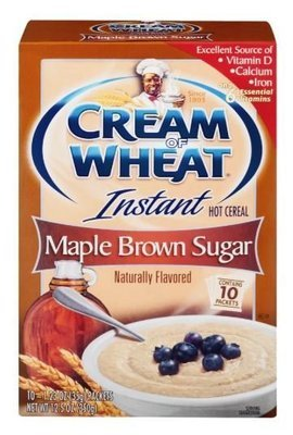 Hot Cereal, Cream of Wheat® Maple Brown Sugar Walnut Hot Cereal (10 Count of 1.23 oz Packets, 12.5 oz Box)